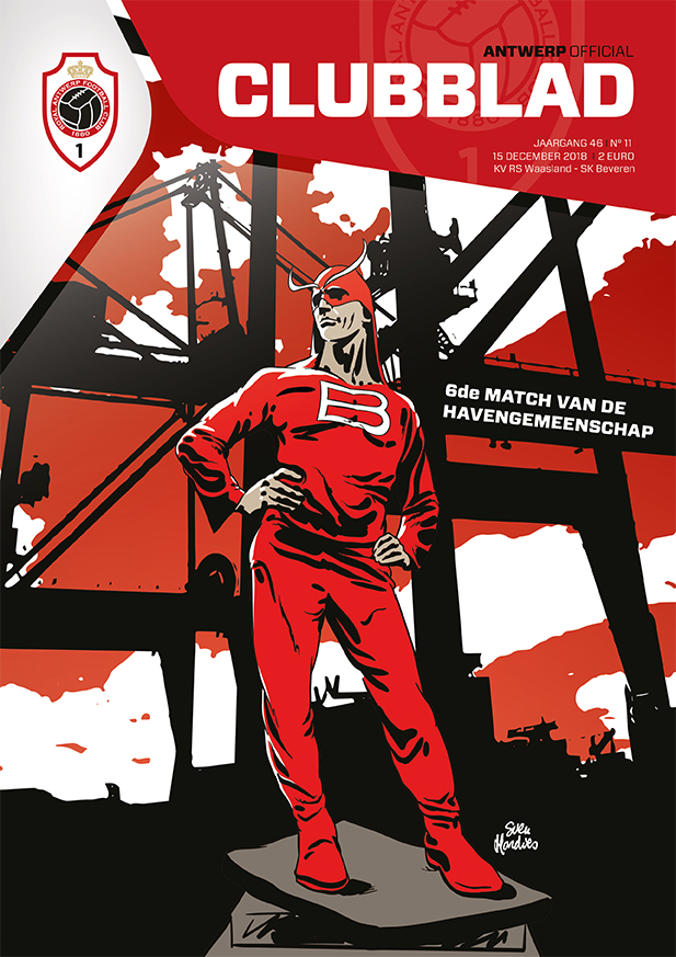 RAFC Clubblad coverillustratie